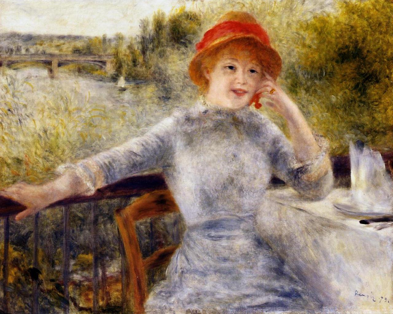Alphonsine Fournasie on the Isle of Chatou  - Pierre-Auguste Renoir (Image: www.wikiart.org)