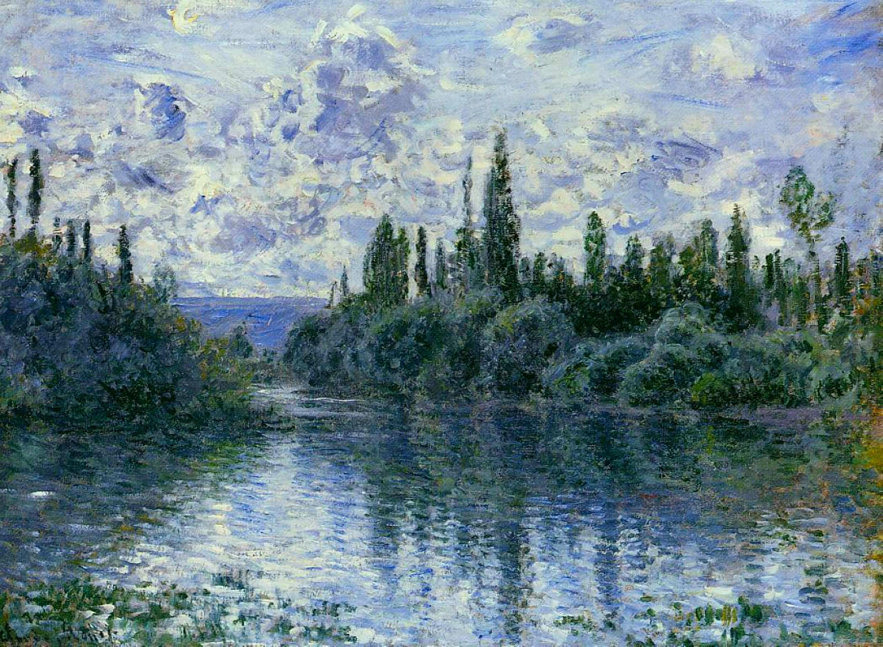 Arm of the Seine near Vetheuil  - Claude Monet (Image: www.wikiart.org)