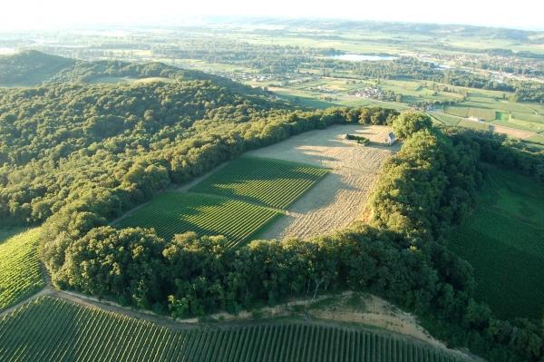 Jurançon Aerial View  -  image: www.vins-jurancon.fr