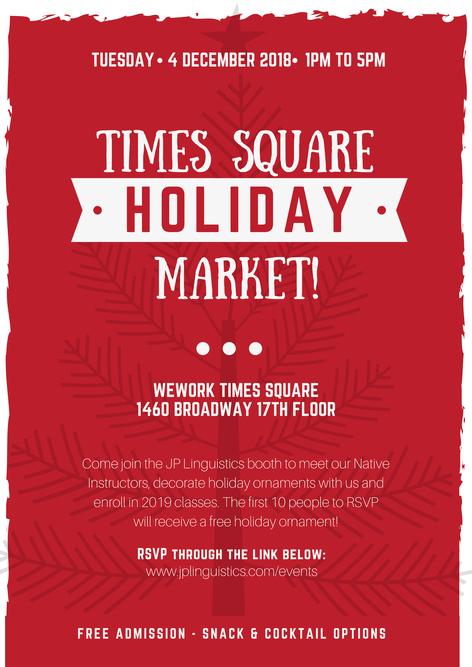 JP Linguistics Times Square Holiday Market WeWork