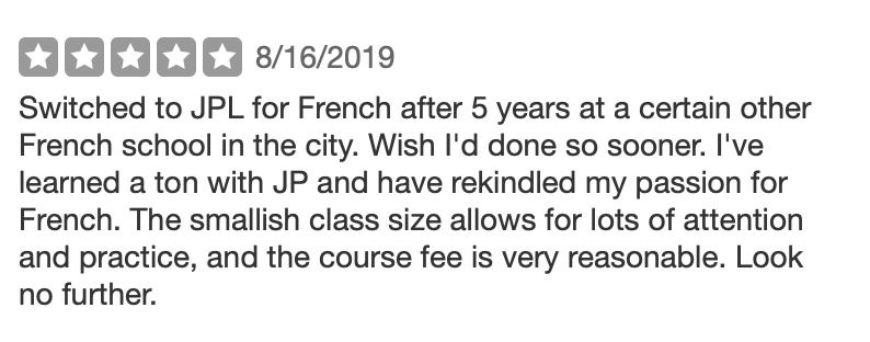 JP LInguistics French Reviews.png