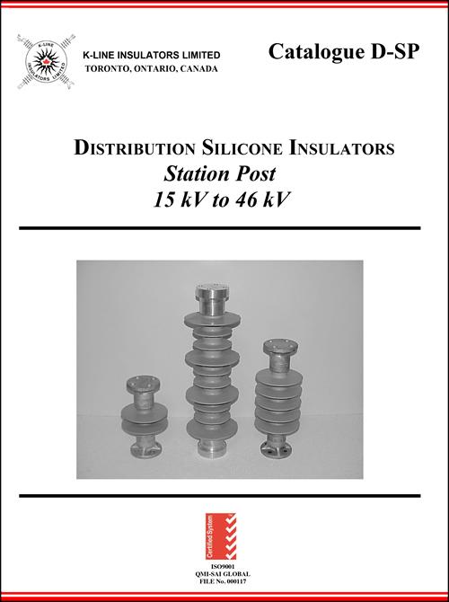 Chapter 1 Distribution Station Post Insulators Cat D-SP