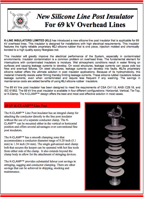 Chapter 1 Distribution 69 kV LP Product Bulletin