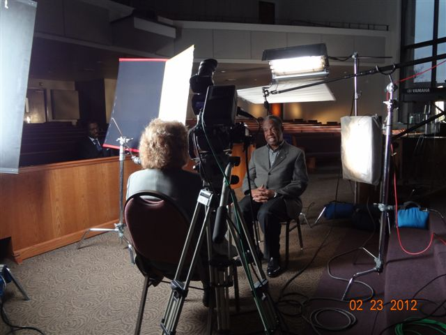 Jenny Rohrer on set of MMBB Houston Shoot