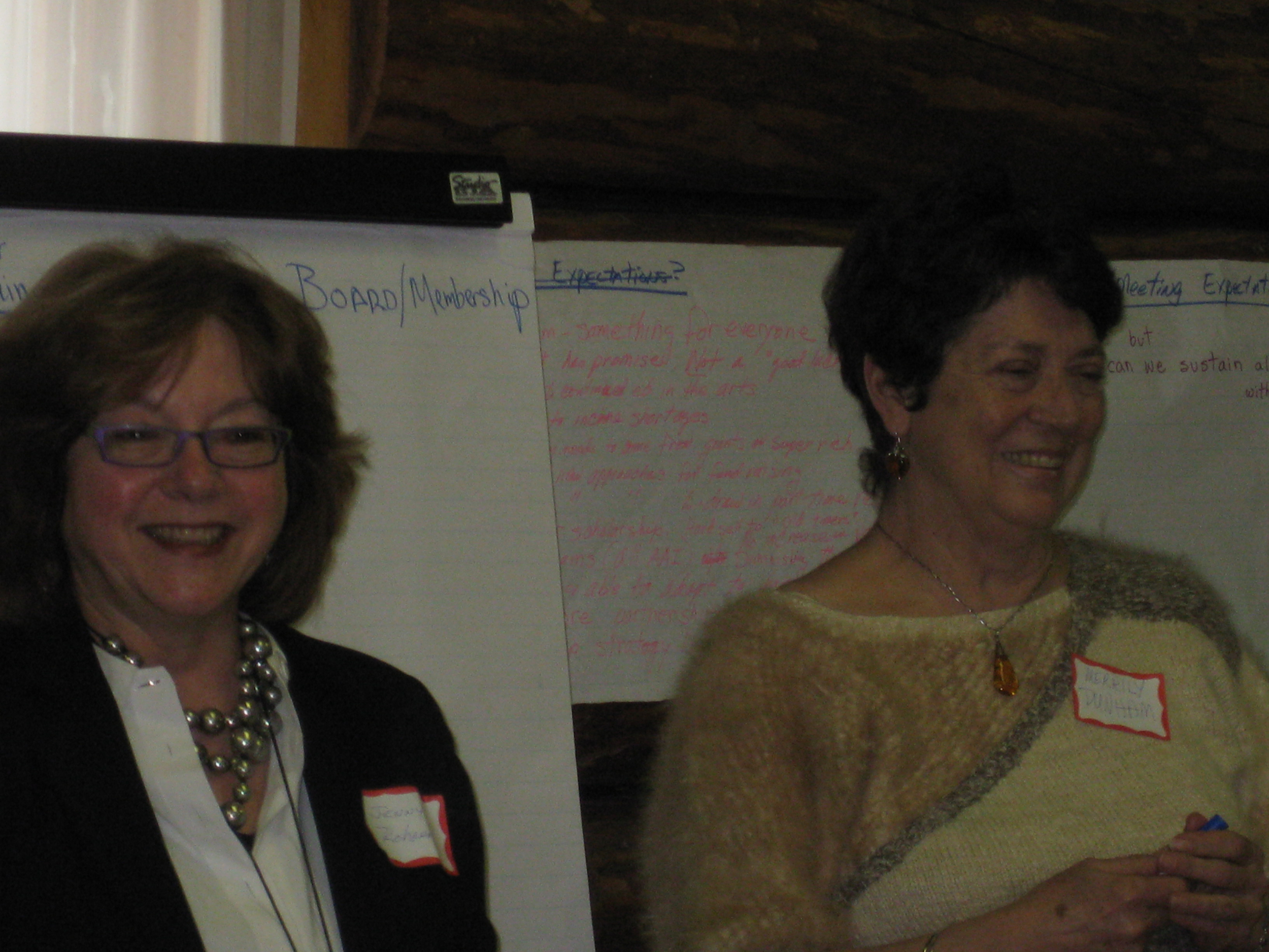 Jenny Rohrer (left) at an Alpine Artisans' Annual Meeting