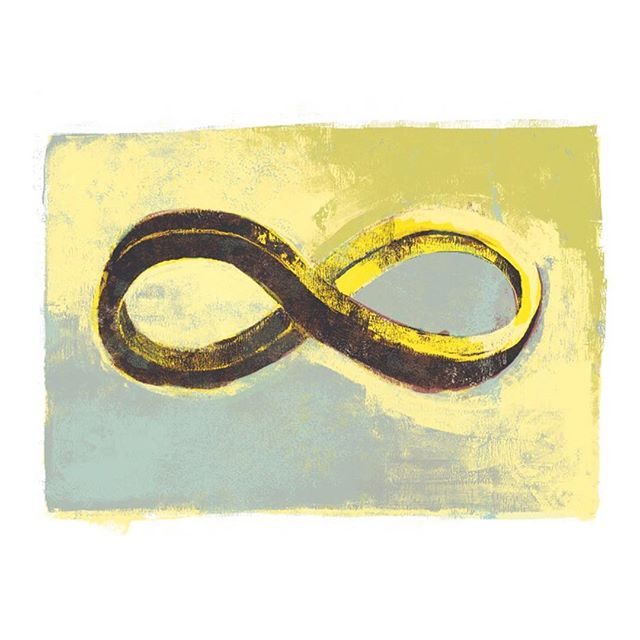 Fer evr and evr and evr. #art #infinity #painting #icon #forever #illustration #type #typography #poster #loop #time