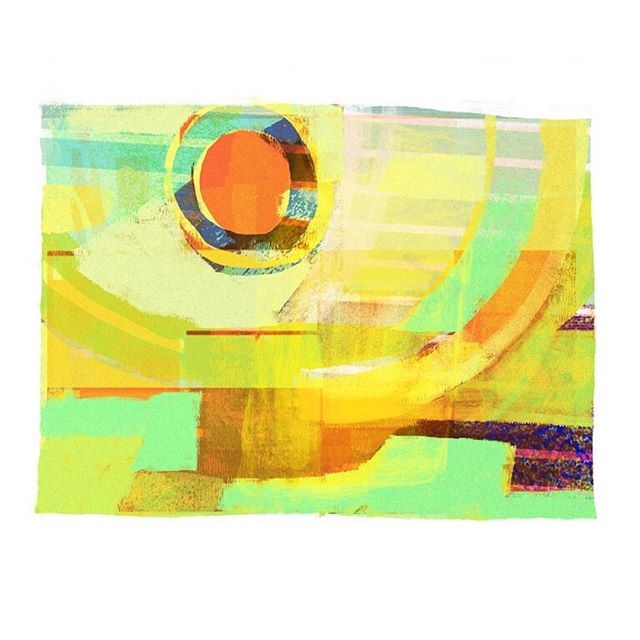 I need colour, I need sun.  I used a combination of glitches made from a broken photoshop file to make a warm little abstract. #glitch #art #abstract #photoshop #sun #colour #color #green #summer