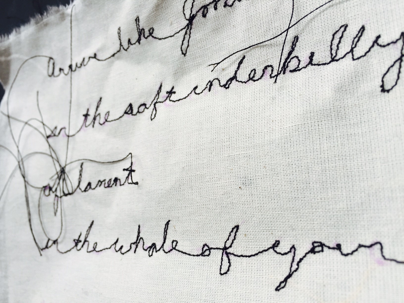 Poem fragment, 2016