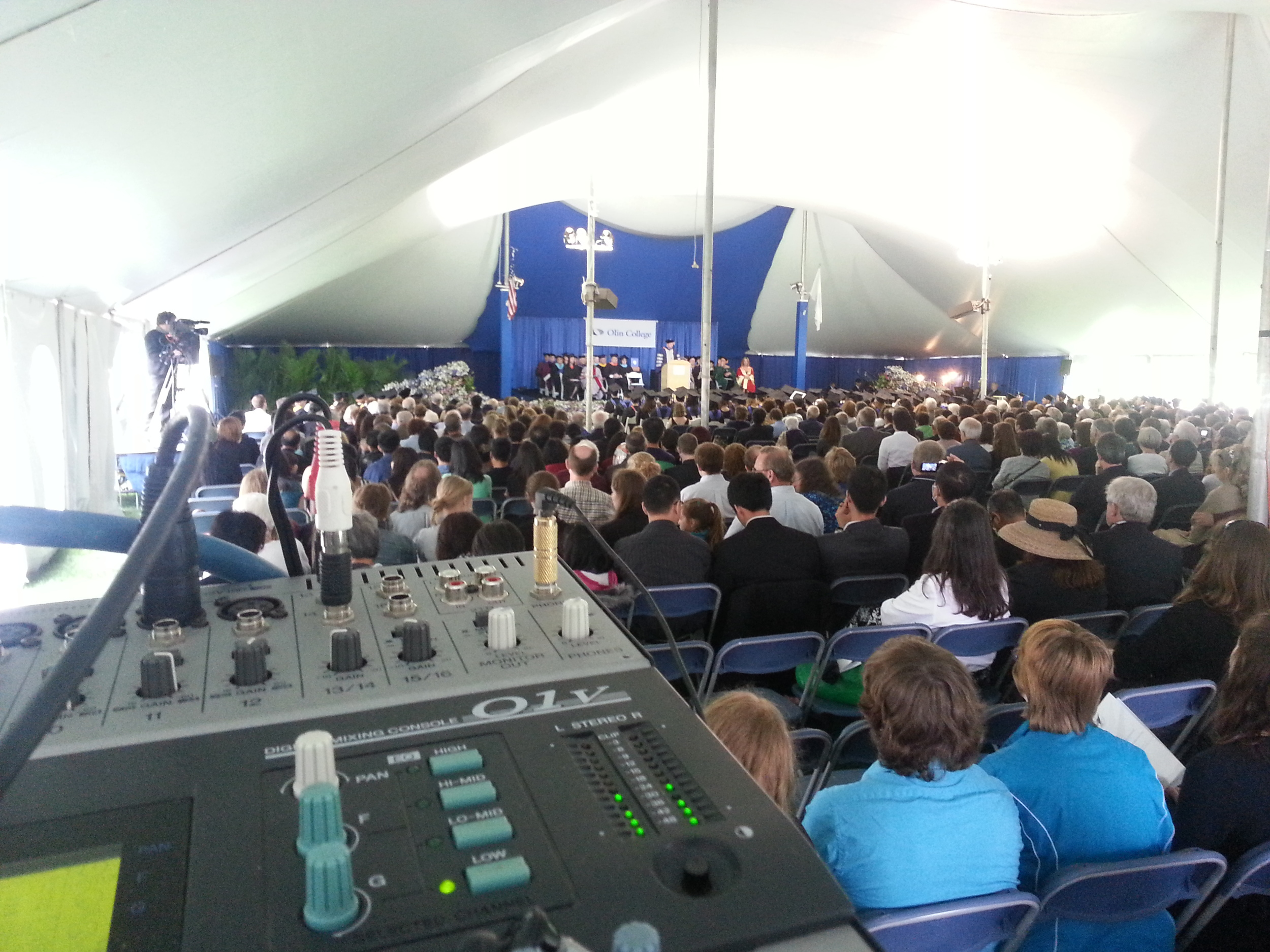 The 2013 Olin College Commencement. Two cameras, a PA system, and some very smart young people.