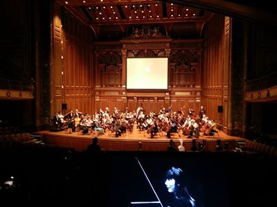 Providing projection at New England Conservatory's moving tribute and concert  Celebration of Masuko  Ushioda