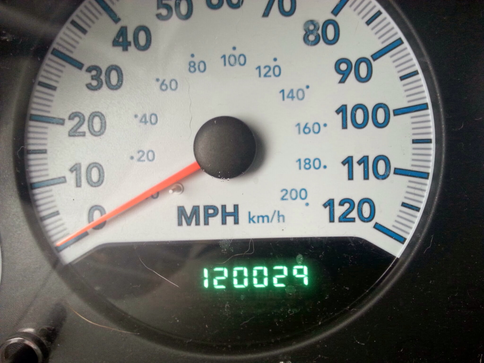 This odometer reading is *almost* a palendrome.