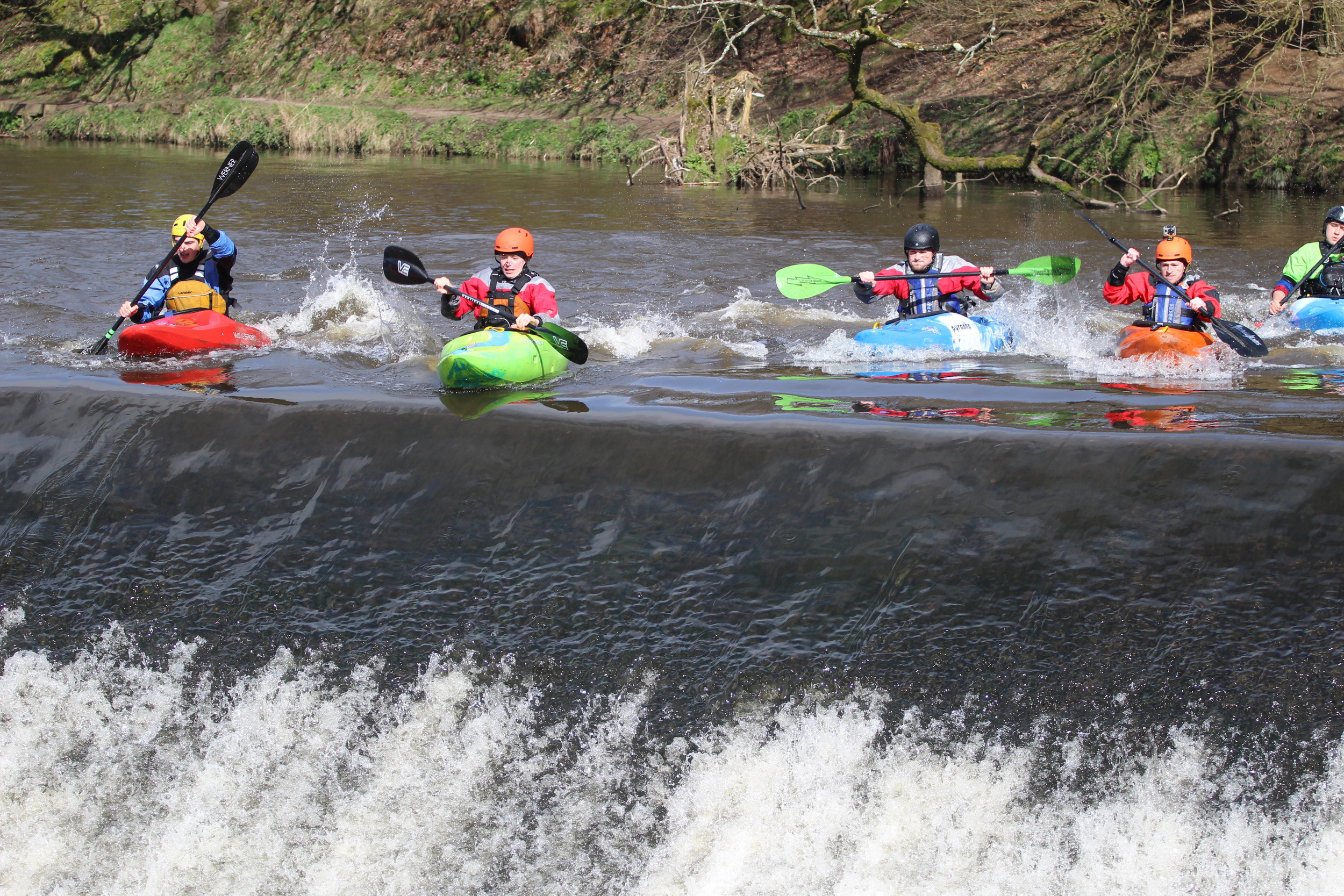 The pro category set off on the boater cross