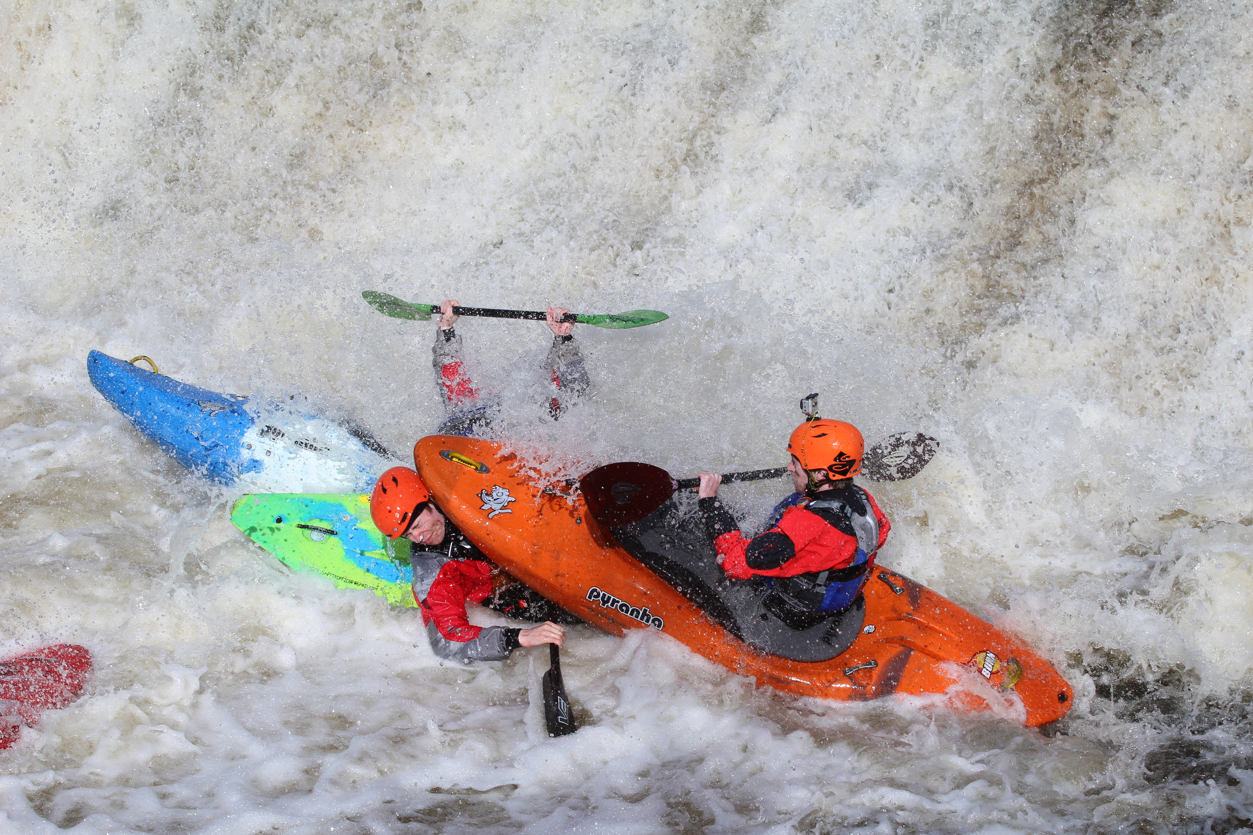 """Nothing says """"I love you"""" like a kayak to the face"""