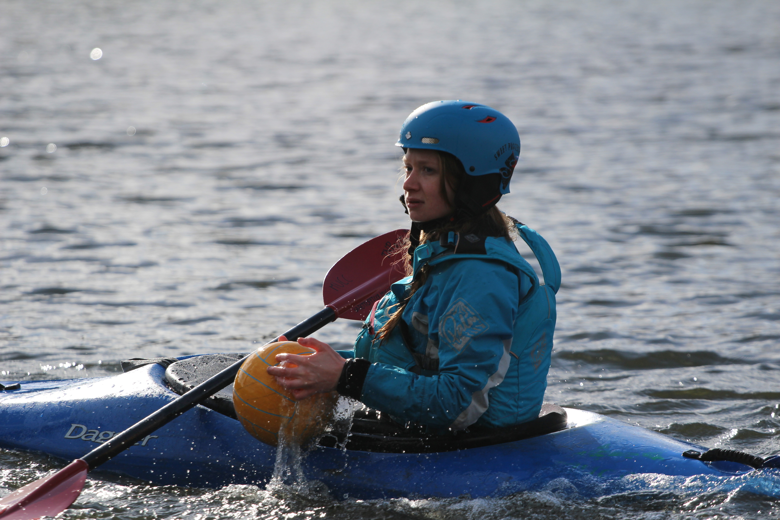 Becky Ruscoe - motivated to paddle!