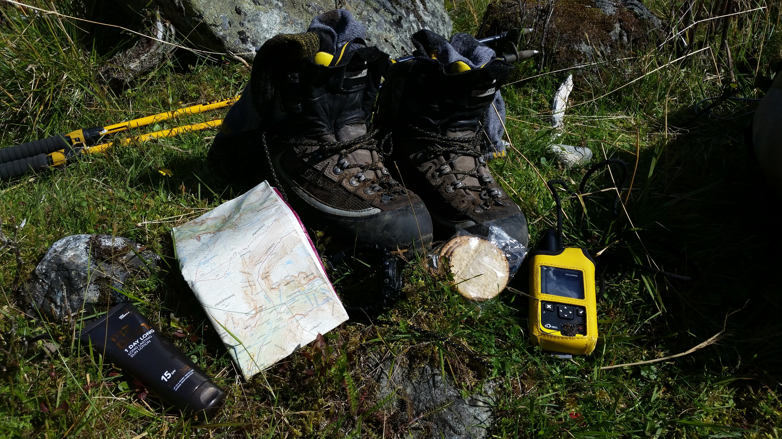 My exped kit (complete with oatcakes)