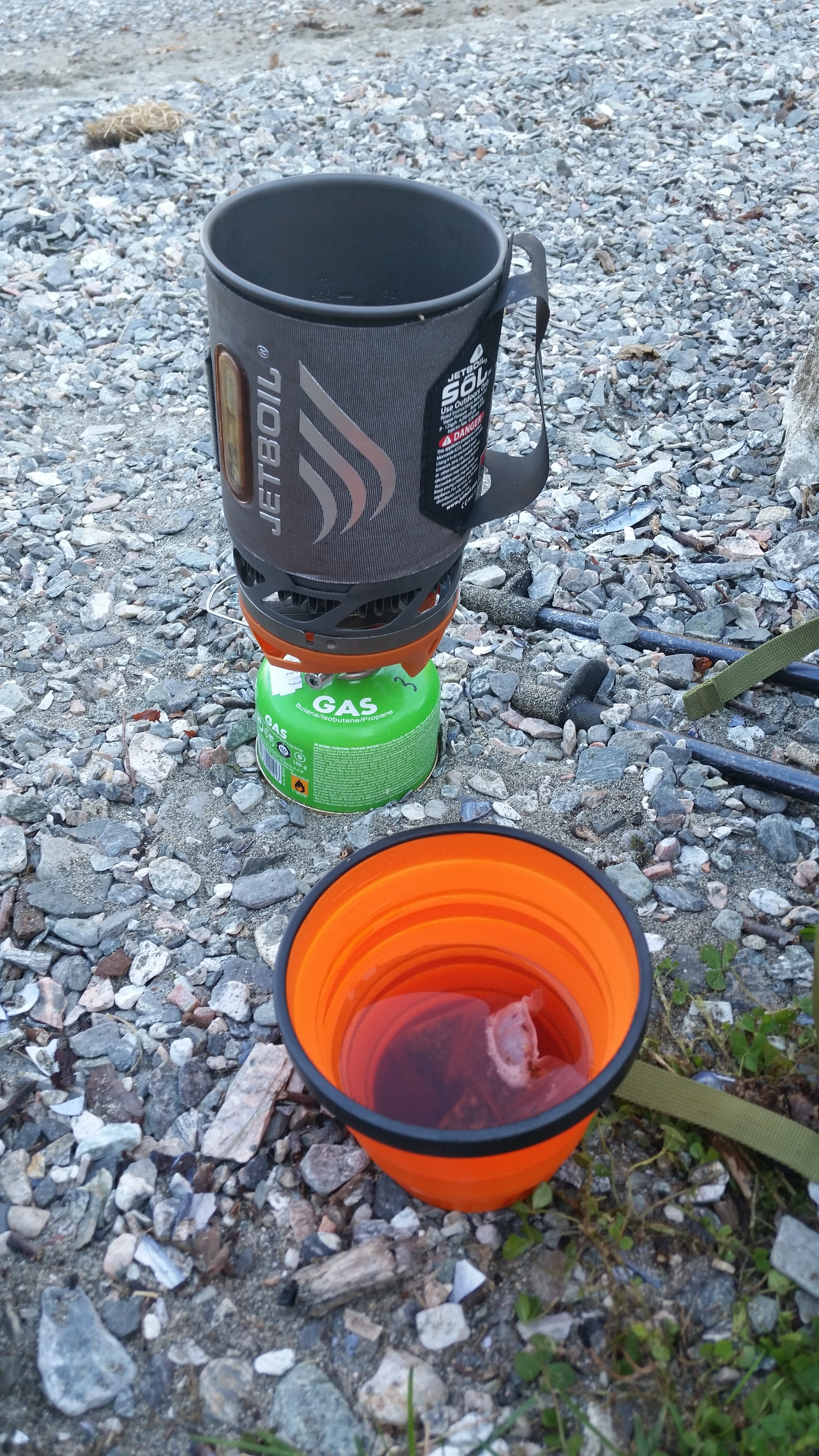 Jetboil and a fruity brew