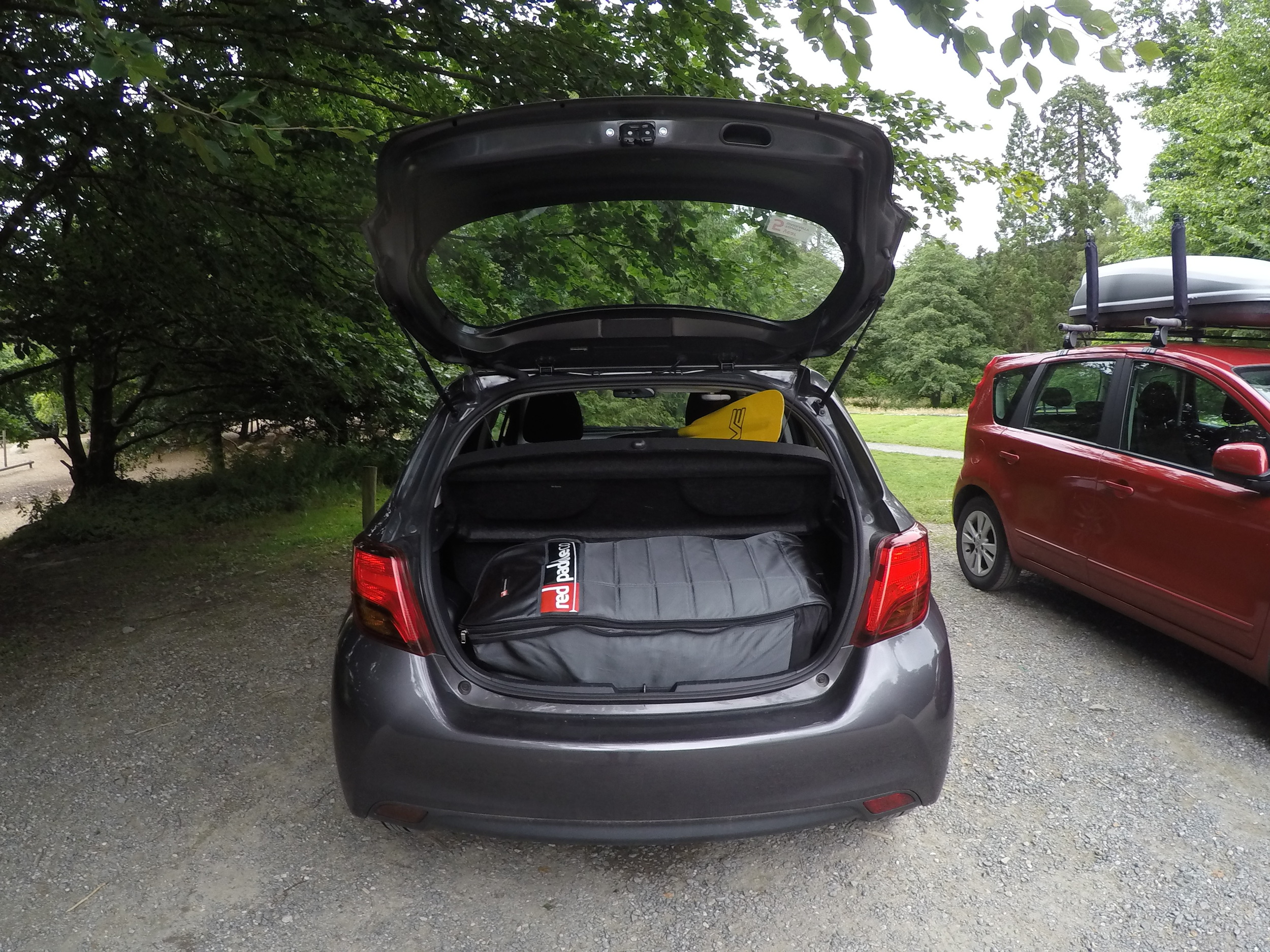 "My Red Paddle Co Explorer 13'2"" fits nicely in the boot of the Yaris"