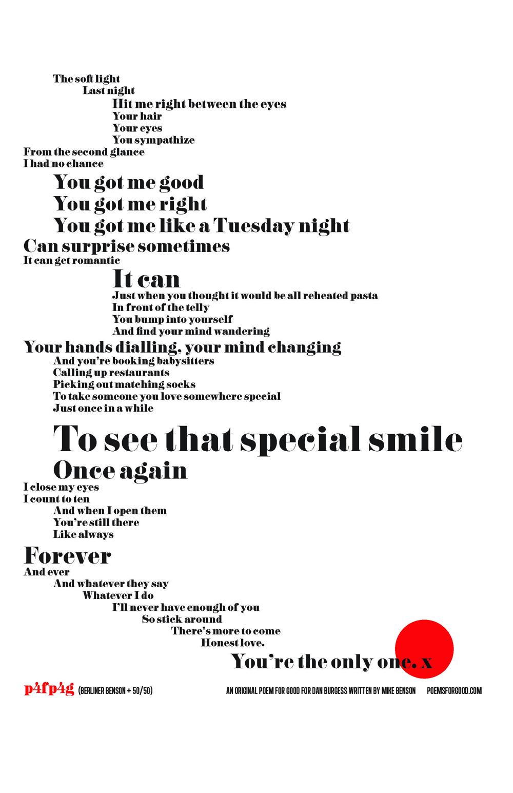 Poems for Good — BERLINER BENSON Creative Shop Practical
