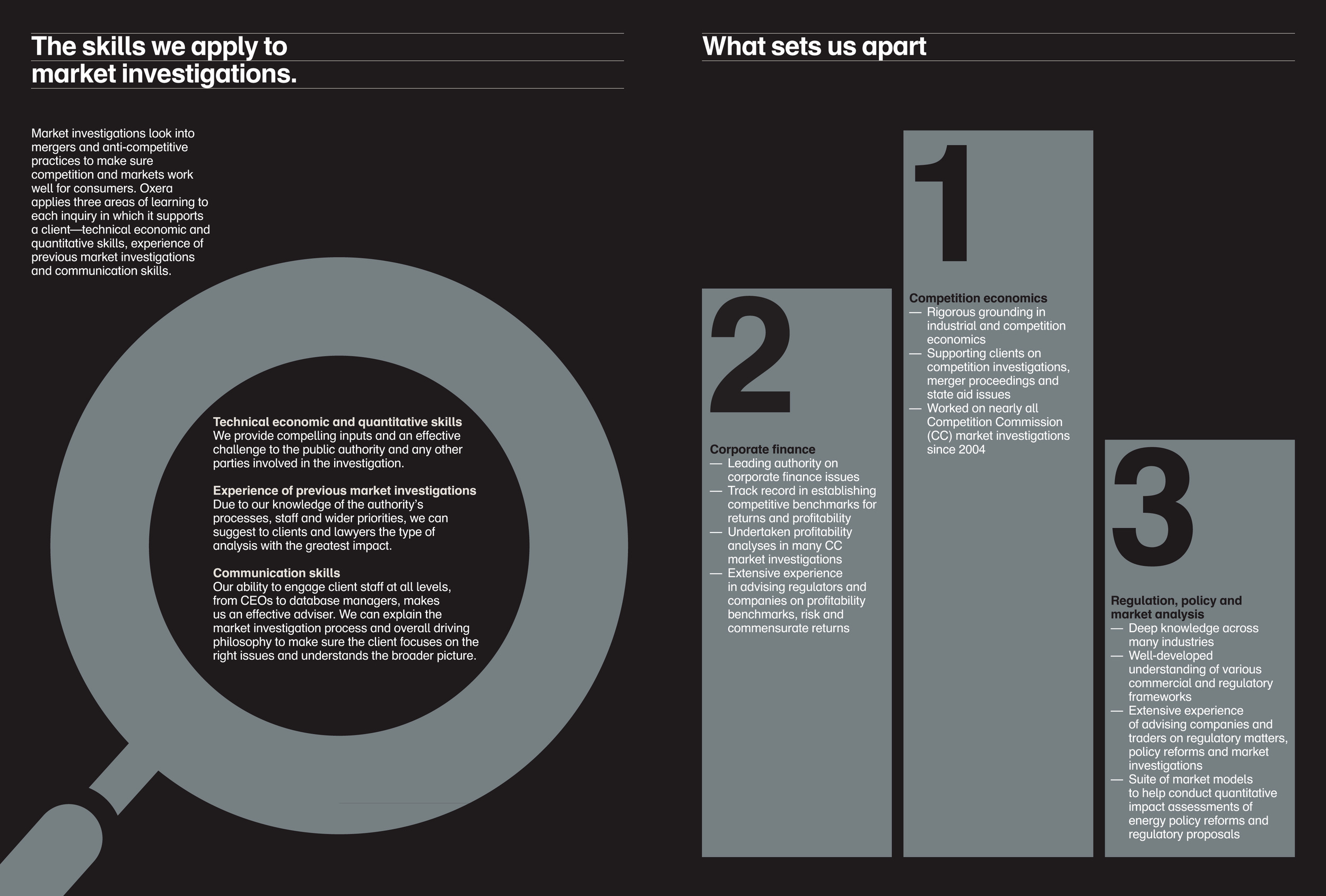 Market investigations brochure