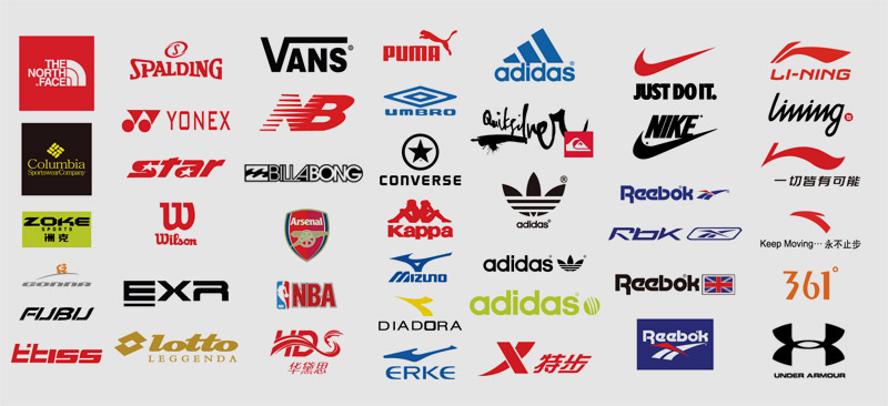 Sporting brand logos Image found on marketingdelosdeportes.com Pinterest page (originator unknown)