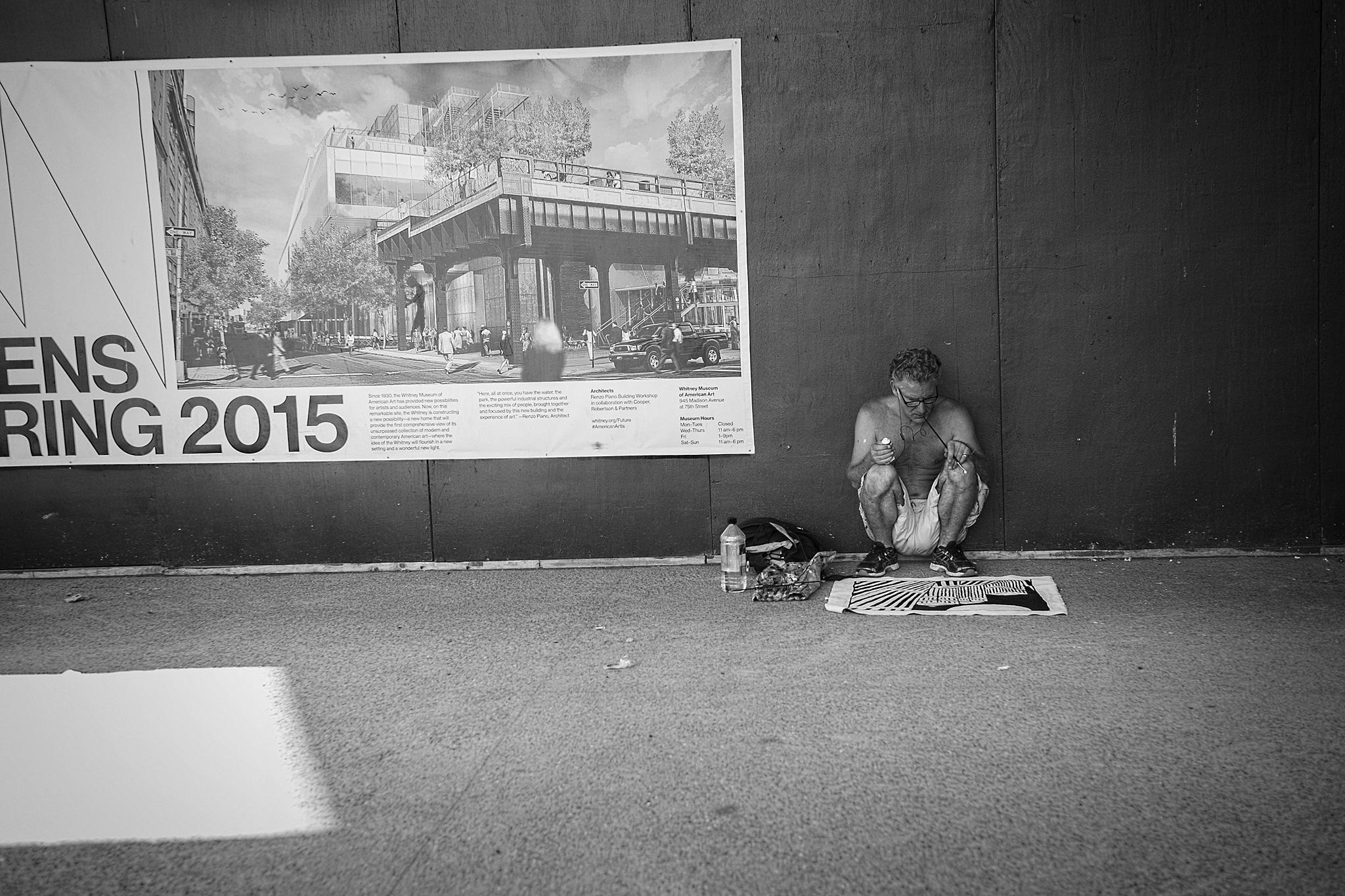 High Line Artist, July 2014.