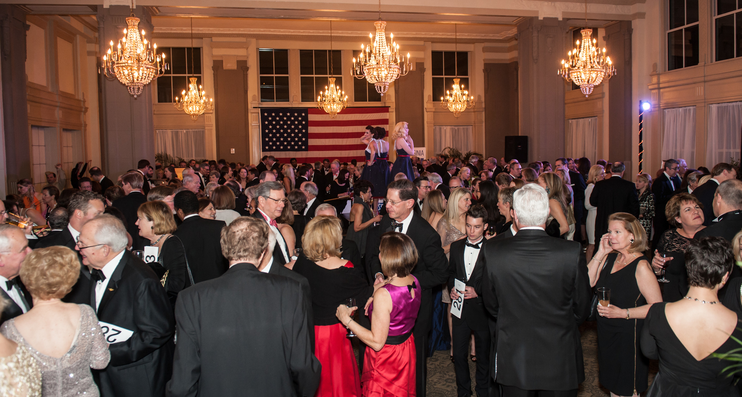 The Marshall Ballroom, full of excited guests bidding away during the silent auction!