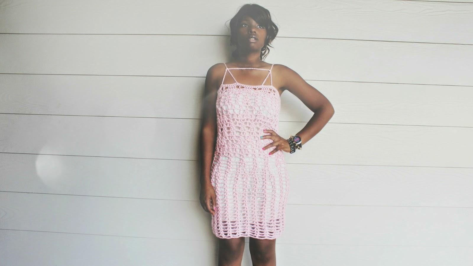 The Crossed Crochet Dress