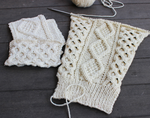 Guest post on Fringe Association - Amanda KAL swatching