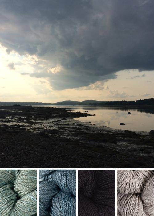 color inspiration: Acadia / summersweet, granite, cormorant, driftwood