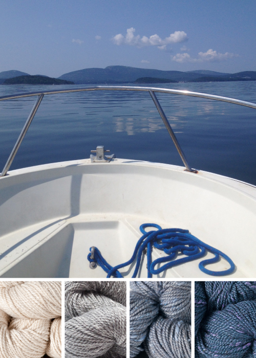 color inspiration: Acadia / egret, mountain ash, sea lavender, blueberry