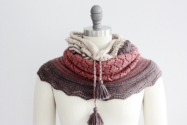 Chilkat Cowl by Rosemary Hill featuring Road to China Light