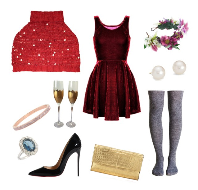KW Style It: Daisy Chain Shoulderette New Year's Eve