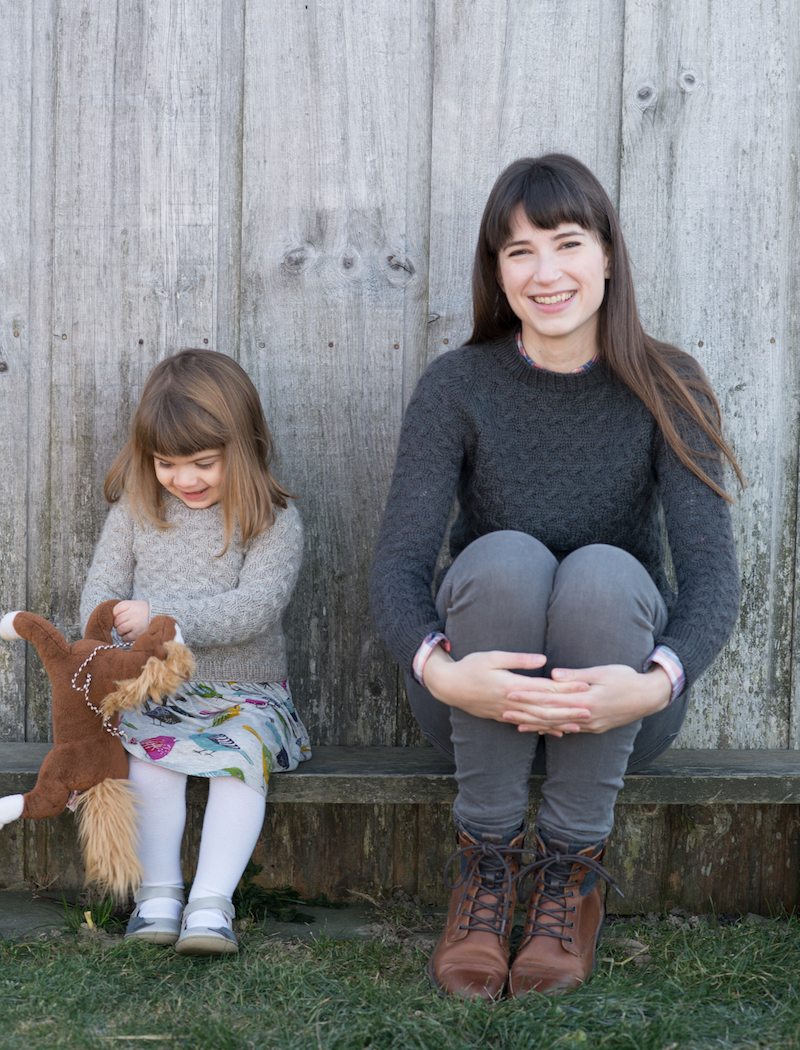 Coastal Pullover and Little Coastal Pullover by Hannah Fetting