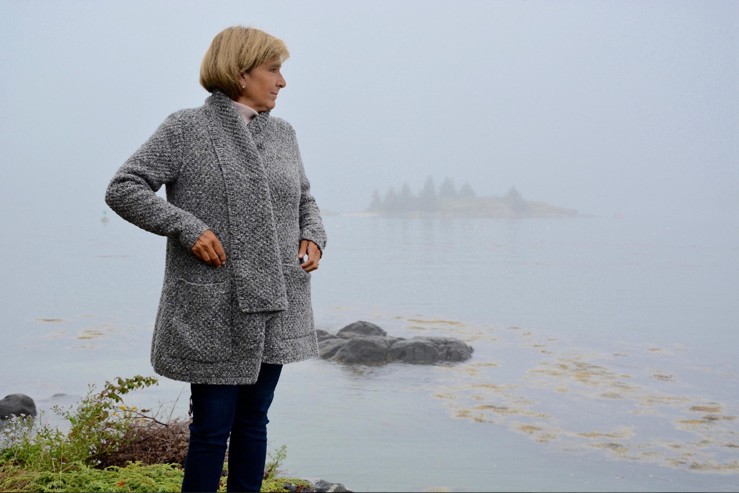 Granite Island by Lori Versaci in The Fibre Co. Arranmore