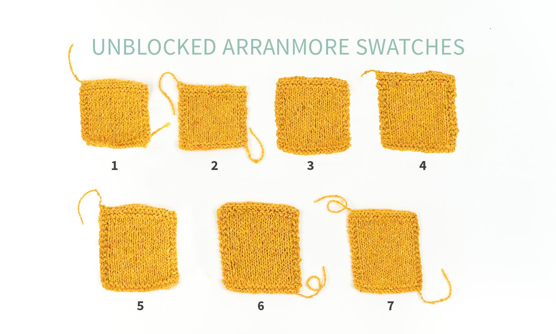 KW swatch Experiment Data: The Fibre Co. Arranmore