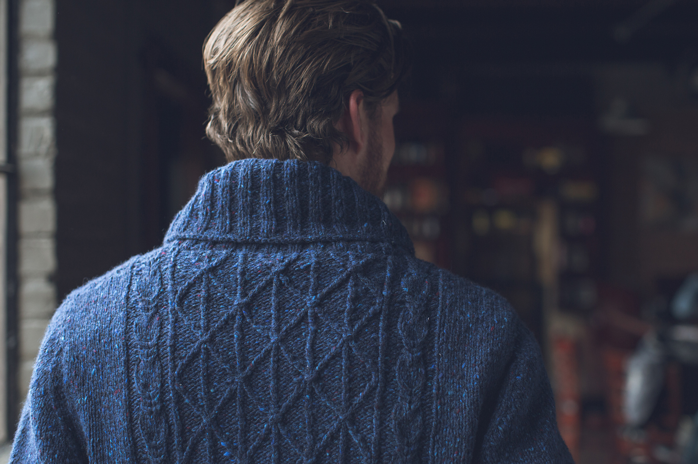Interweave Knits WInter 2016 Donegal Sweater in The Fibre. Co Arranmore