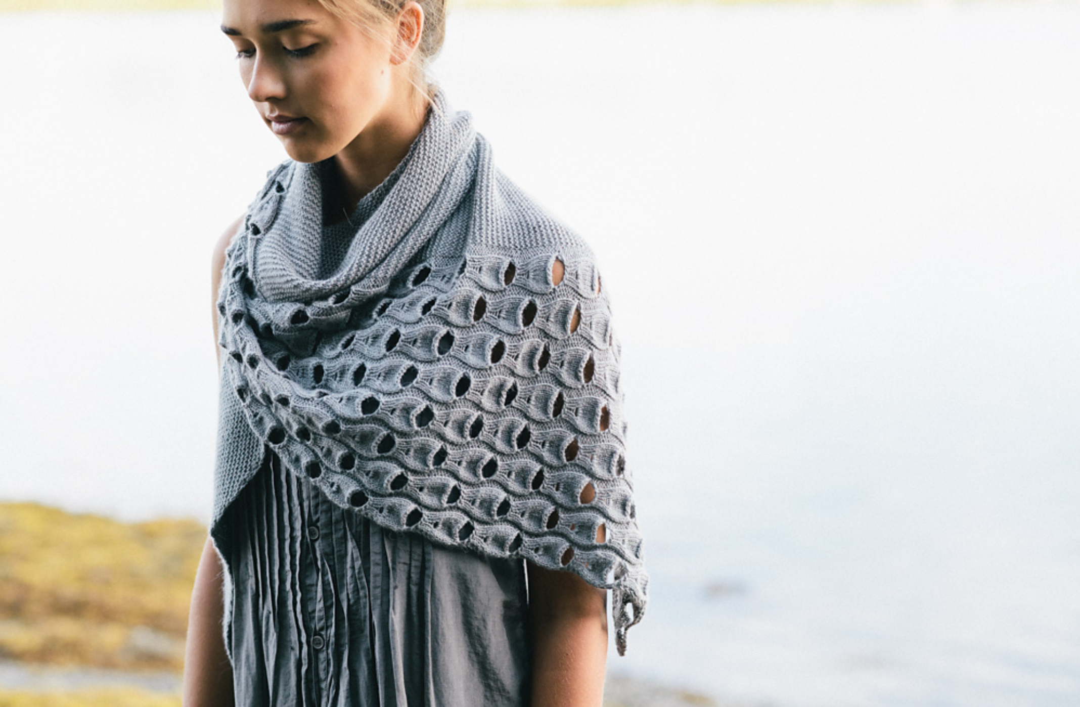 Open Waters Shawl by Melanie Berg featuring The Fibre Co. Canopy Fingering. Image © Carrie Bostick Hoge