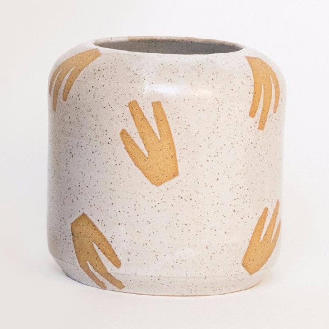 Tactile Matter White Primitive Leaf Vase