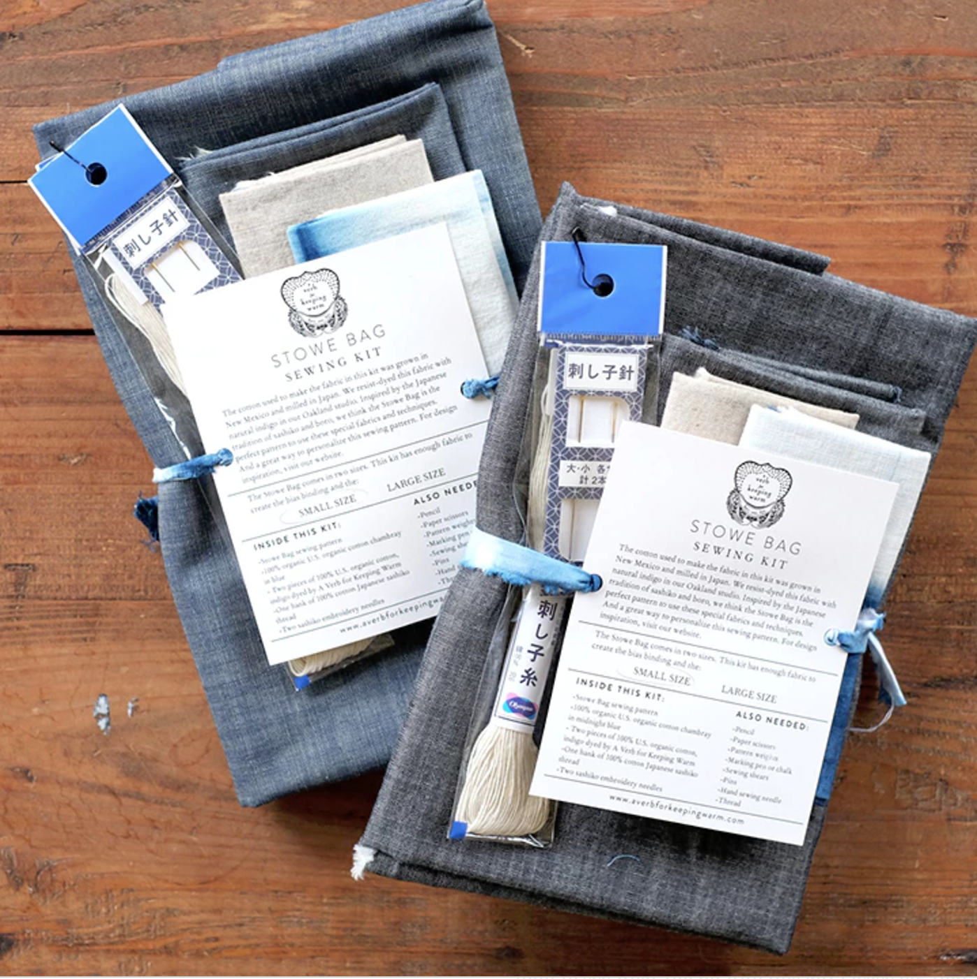 AVFKW Stowe Bag Sewing Kit from Fringe Association