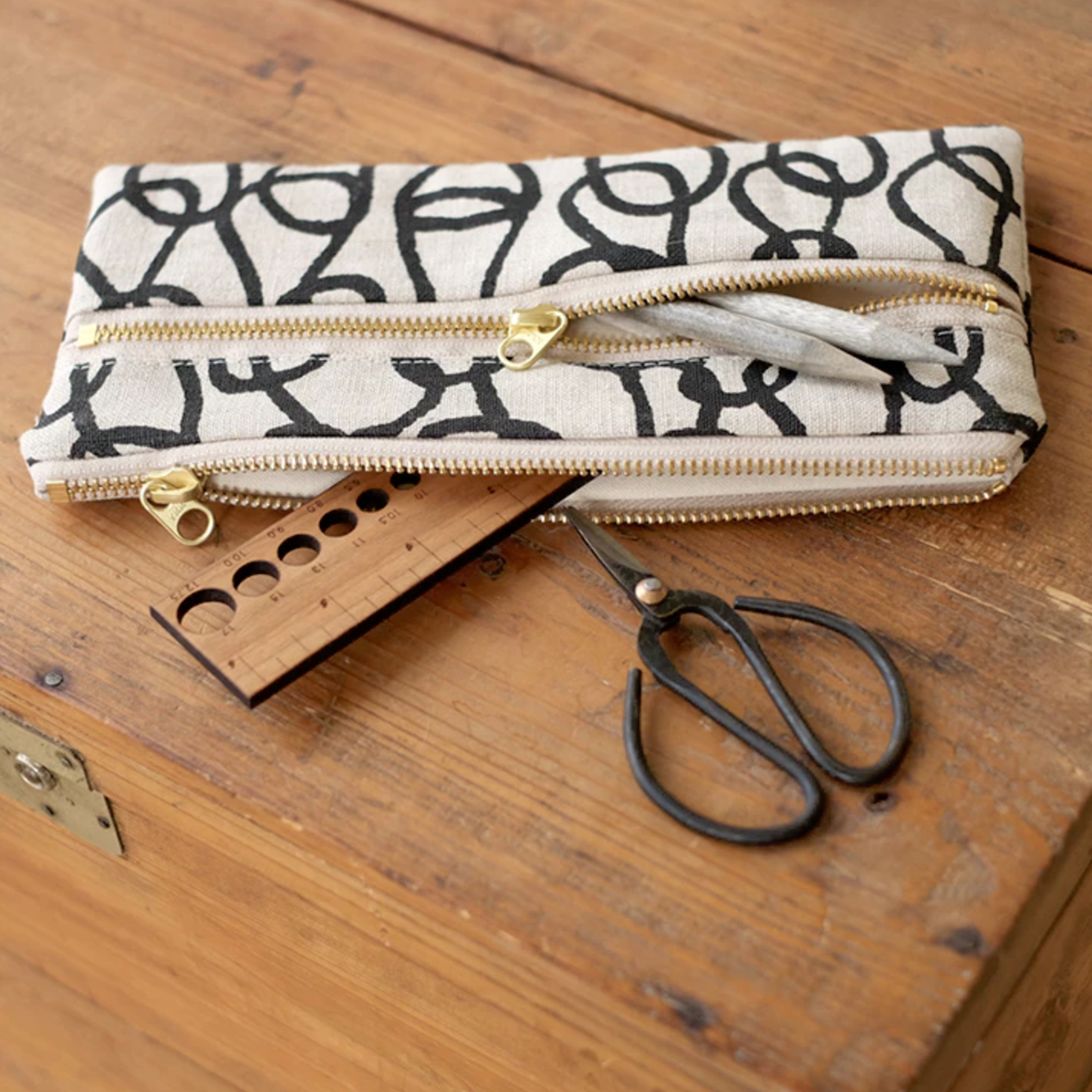 Bookhou Double Zip Pouch from Fringe Supply Co.