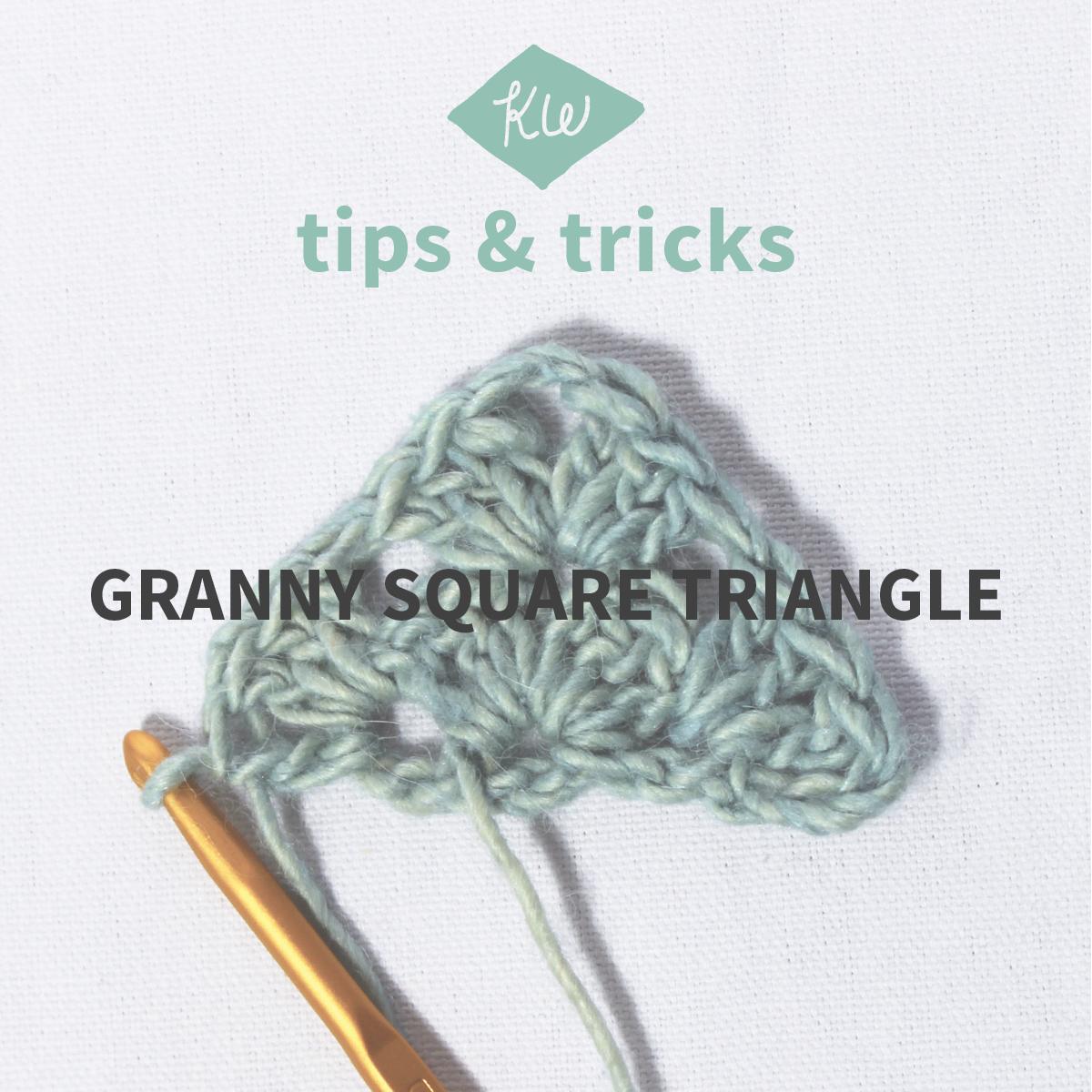 Kelbourne Woolens Tips + Tricks: Granny Square Triangle