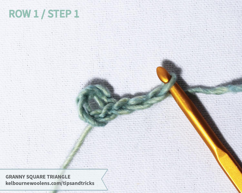 KW Tips + Tricks: Granny Square Triangle