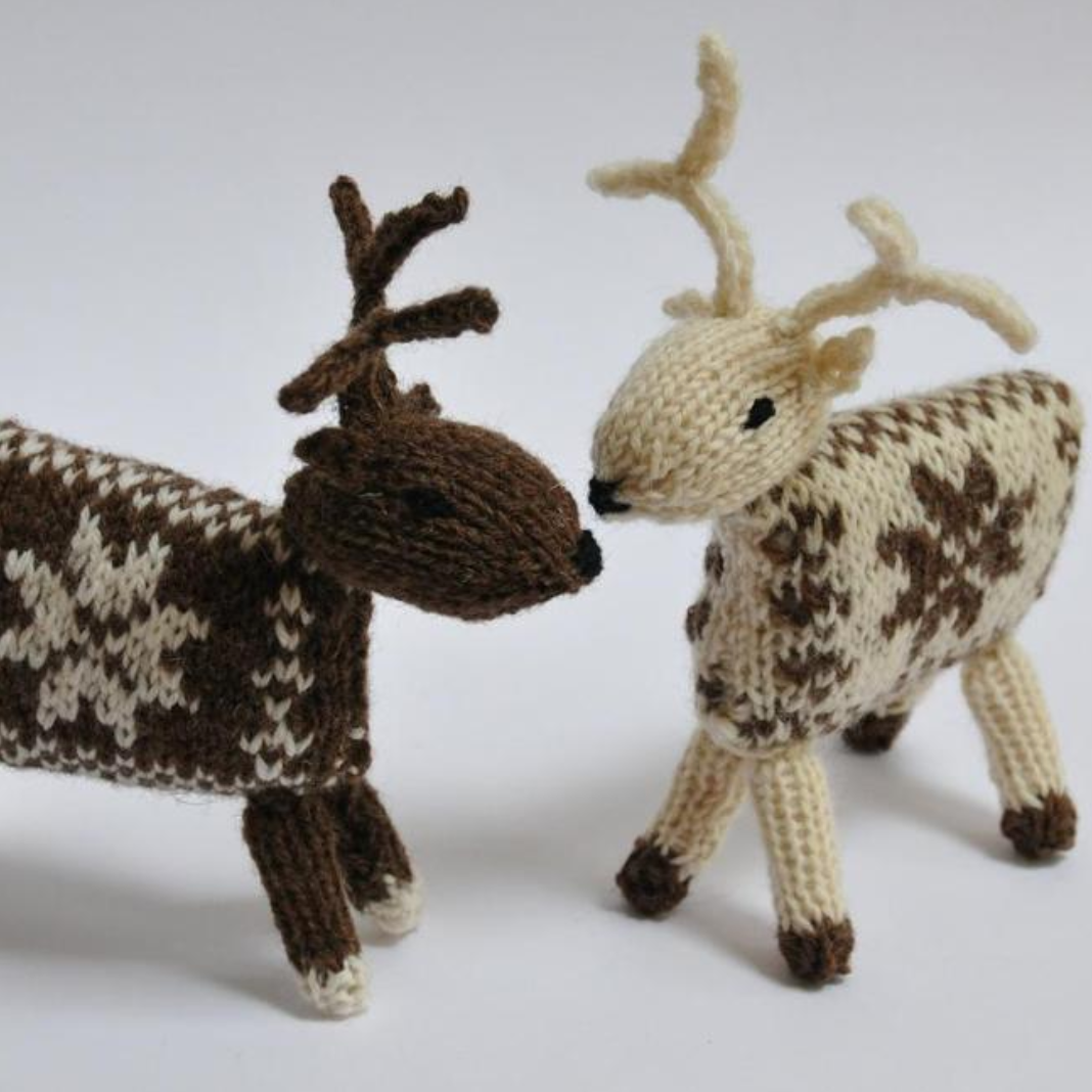 knit reindeer by Made by Ewe