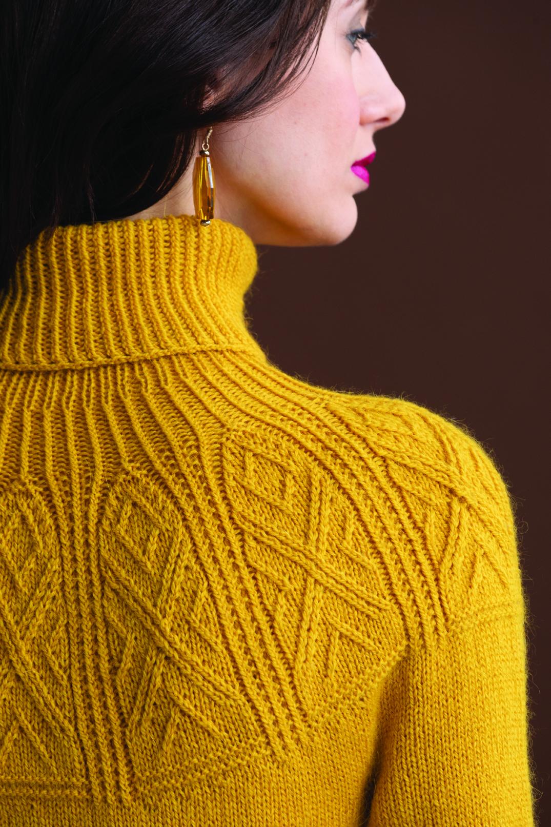 Yoked Pullover Vogue Knitting Early Fall, Norah Gaughan