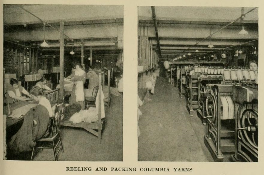 Reeling and Packing Columbia Yarns.  One hundred years, 1816-1916; the chronicles of an old business house in the city of Philadelphia  / 1916, Wm. H. Horstmann Co.
