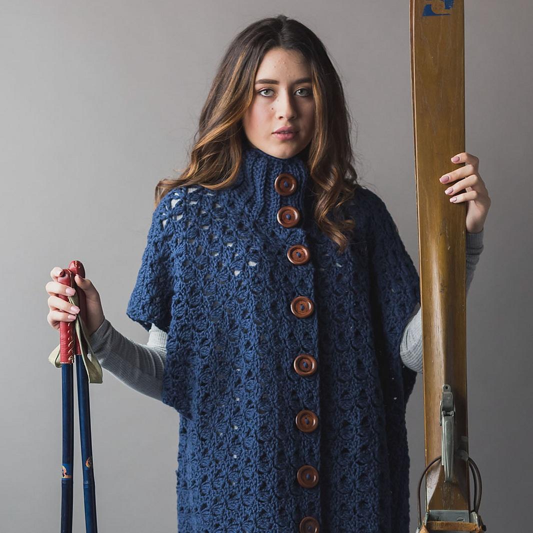 Aprés Ski Poncho, IW Crochet Winter 2019