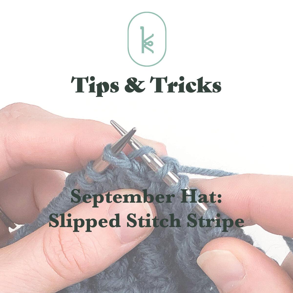 Kelbourne Woolens Tips and Tricks: September Hat Stripe