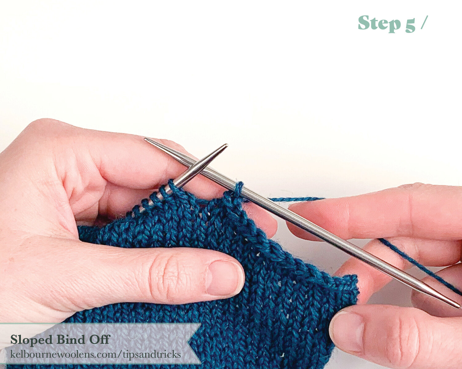 KW Tips and Tricks Sloped Bind Off
