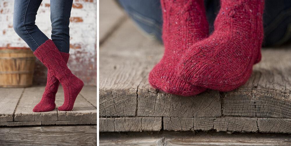 Mcintosh Boot Socks by Jennifer Burke