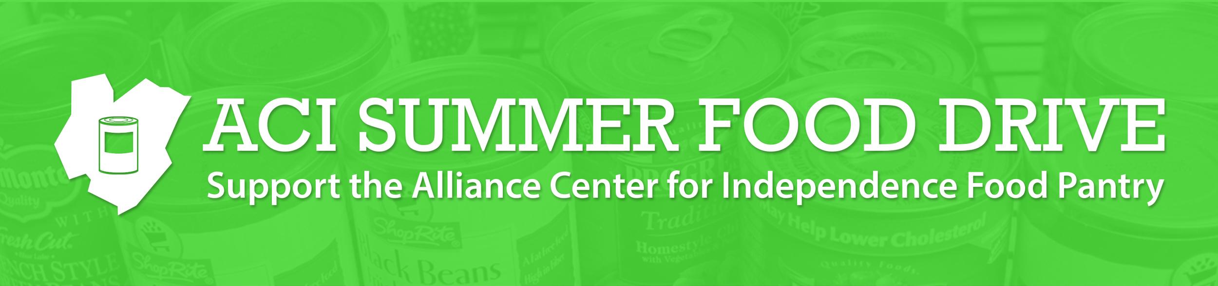 ACI Spring Food Drive banner